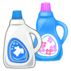 Liquid laundry detergent and fabric softner