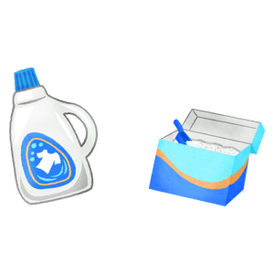 Liquid laundry detergent and washing powder