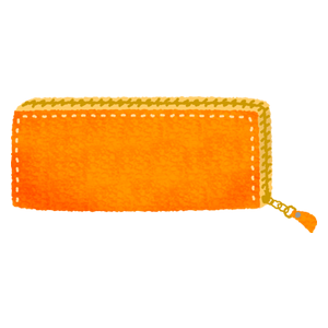 long wallet (orange)