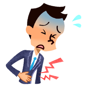 Businessman with stomachache