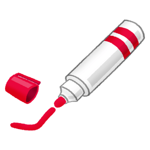 Permanent marker (red)
