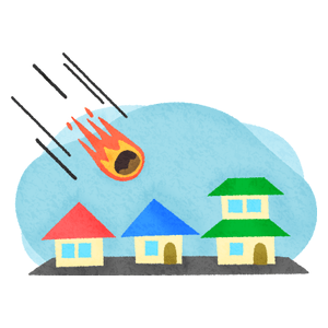 Meteor and houses