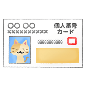 Individual number card (cat)