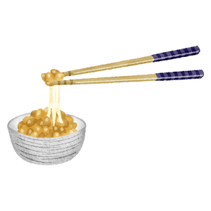 Natto and chopsticks
