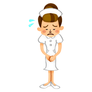 Nurse apologizing