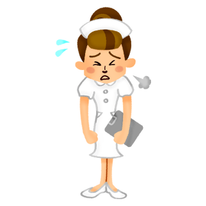 Tired nurse
