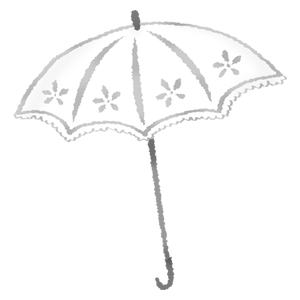 White UV umbrella
