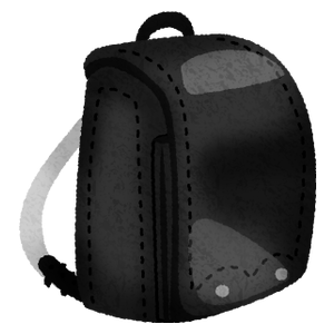 Randosel / Japanese school bag (black)