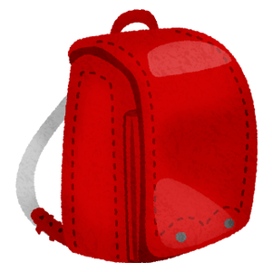 Randosel / Japanese school bag (red)