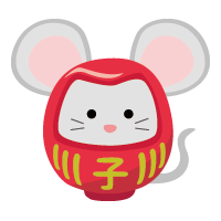 rat daruma (New Year's illustration) sharp