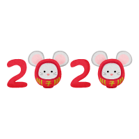 rat daruma year 2020 (New Year's illustration)
