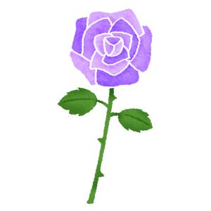 色々な色の薔薇バラの無料イラスト フリーイラスト素材集 ジャパ
