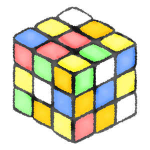 Unfinished Rubik's cube