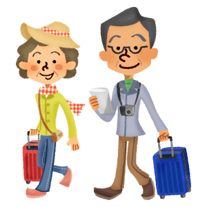 Senior couple who travel abroad