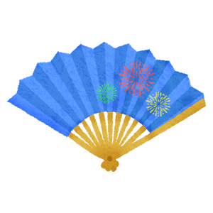 Japanese folding fan / Sensu (blue)