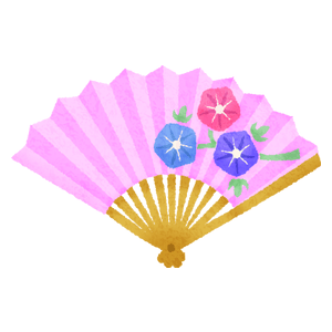 Japanese folding fan / Sensu (pink)