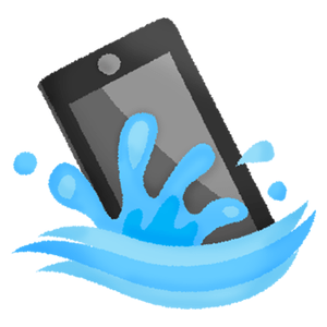 Cell phone dropped in water