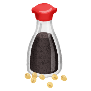 Soy sauce and soy beans
