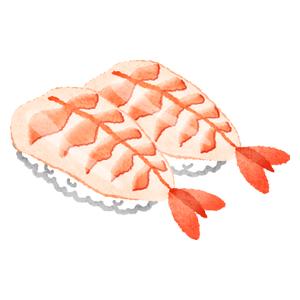 海老のお寿司の無料イラスト フリーイラスト素材集 ジャパクリップ