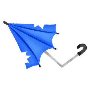 Broken umbrella