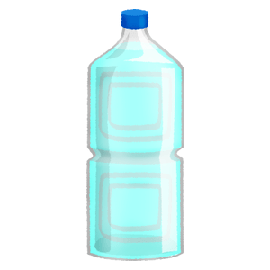 Water in plastic bottle (2L)