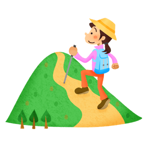 Woman hiking in mountain